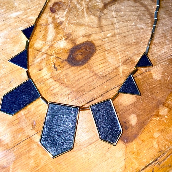 1960 House of Harlow Black Statement Necklace
